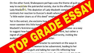 Learn From My Marking a Macbeth Essay