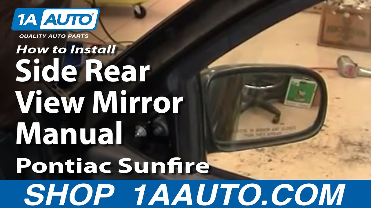 How To Install Replace Side Rear View Mirror Manual