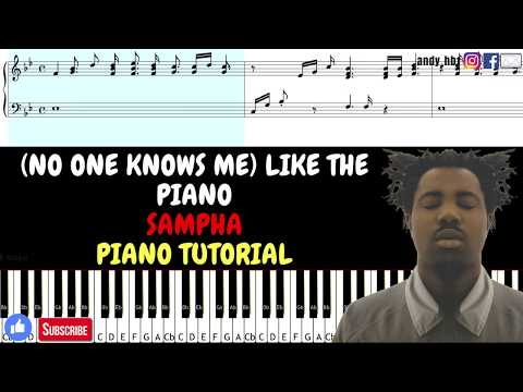 (No One Knows Me) Like The Piano - Sampha / EASY Piano Tutorial / Sheet Music / Midi