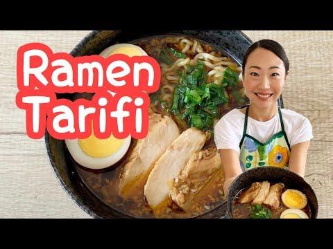 Evde Ramen Nasıl Yapılır?  (Tavuklu Ramen Tarifi) 海外でラーメンの作り方