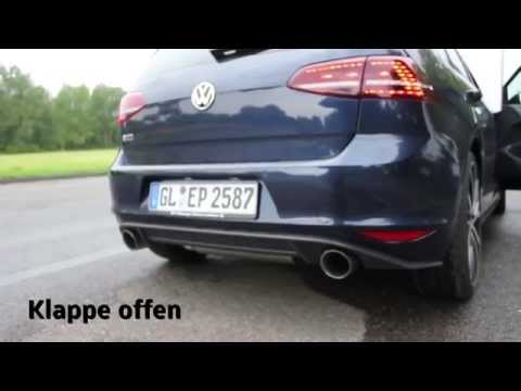 golf 7 gti pp mit st ber klappenauspuff ab kat youtube. Black Bedroom Furniture Sets. Home Design Ideas