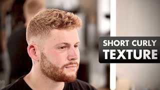 Short curly texture hairstyle for men - Casper Balo