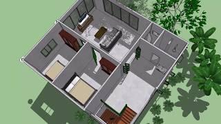 บ้านธารธารา ( No. 048 ) Sketchup by : i. pakdee