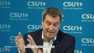 Pressekonferenzen der Parteien: CSU, LINKE, Grüne, CDU thumbnail