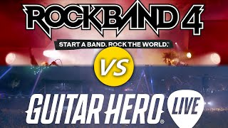 Rock Band 4 vs Guitar Hero Live Review: What Should You Buy?