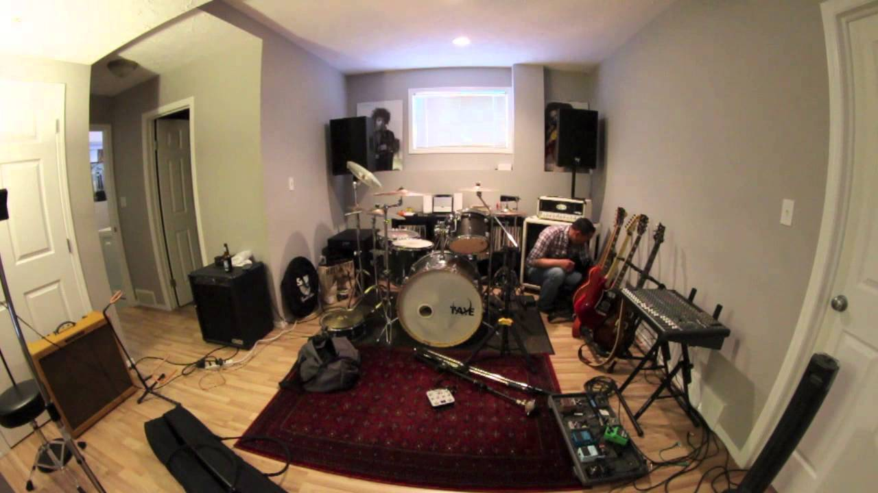 Time lapse the basement band set up youtube - Small space studio set ...