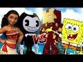 Bendy Attack Spongebob And Moana | Minecraft Versus video