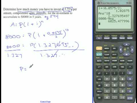 compound interest formula and tvm solver youtube