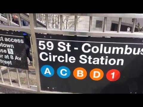 MTA New York City Subway: A Tour Of The 59th Street-Columbus Circle Station