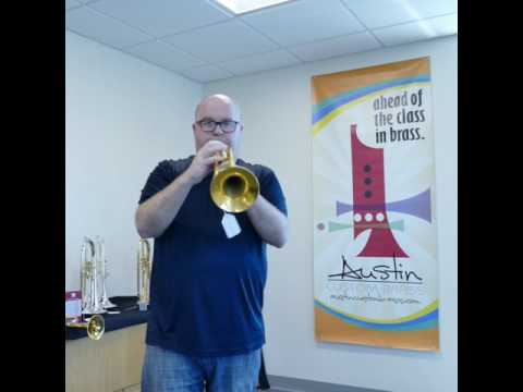 Pre-Owned Gold Plated Blackburn Trumpet for sale at Austin Custom Brass