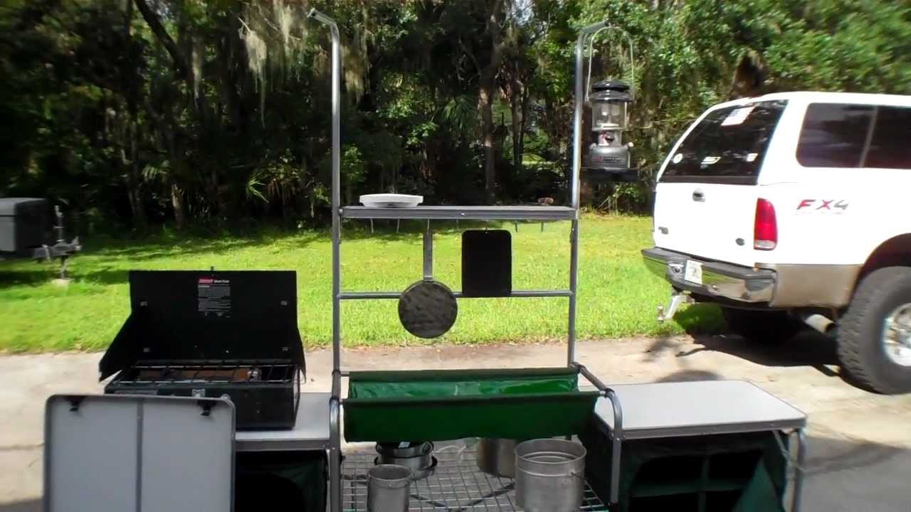 Camping Kitchen Cabelas Deluxe Camping Kitchen Tour Youtube