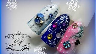 ♥Новогодний дизайн ногтей
