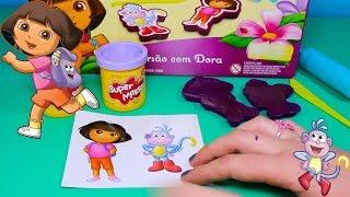 Massinha de Modelar Play-Doh Dora Aventureira com Patrulha Canina e Peppa Pig Surpresa Completo