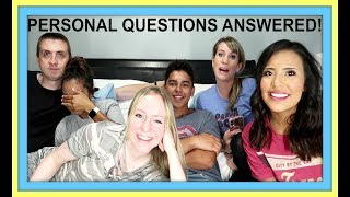 FAMILY QUESTIONS AND ANSWERS | PERSONAL QUESTIONS ANSWERED