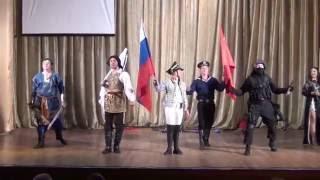 """Военно исторический театр """"Несокрушимые"""", выступление в п. Арсеньево."""