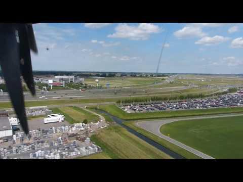 Landing in Amsterdam - flight BRN-AMS - Dornier 328 Skywork Airlines