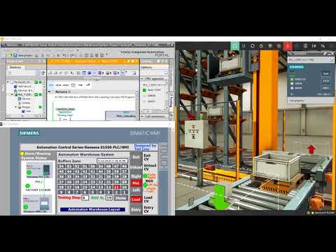 Automation Control System Series - Automation Warehouse System Project Used the Siemens FB