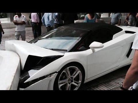 Lamborghini Gallardo Spyder Crashed By Valet In India !