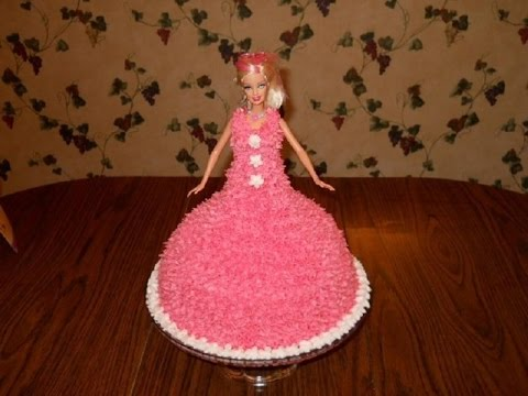 How To Make Little Girls Barbie Doll Cake