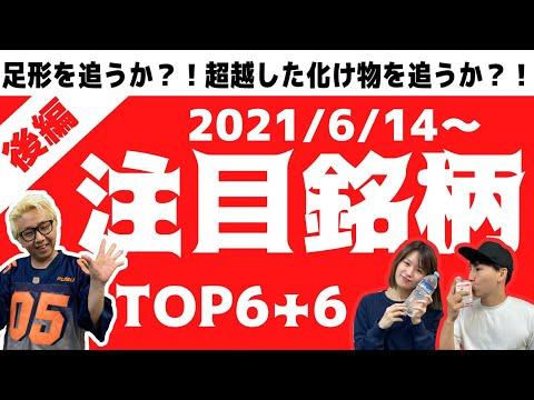 【JumpingPoint!!の株Tube#230】2021年6月14日~の注目銘柄TOP6+6(後編)