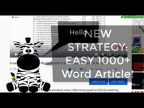 How to Create 1000+ Word Article Content EASILY - New FREE Method!