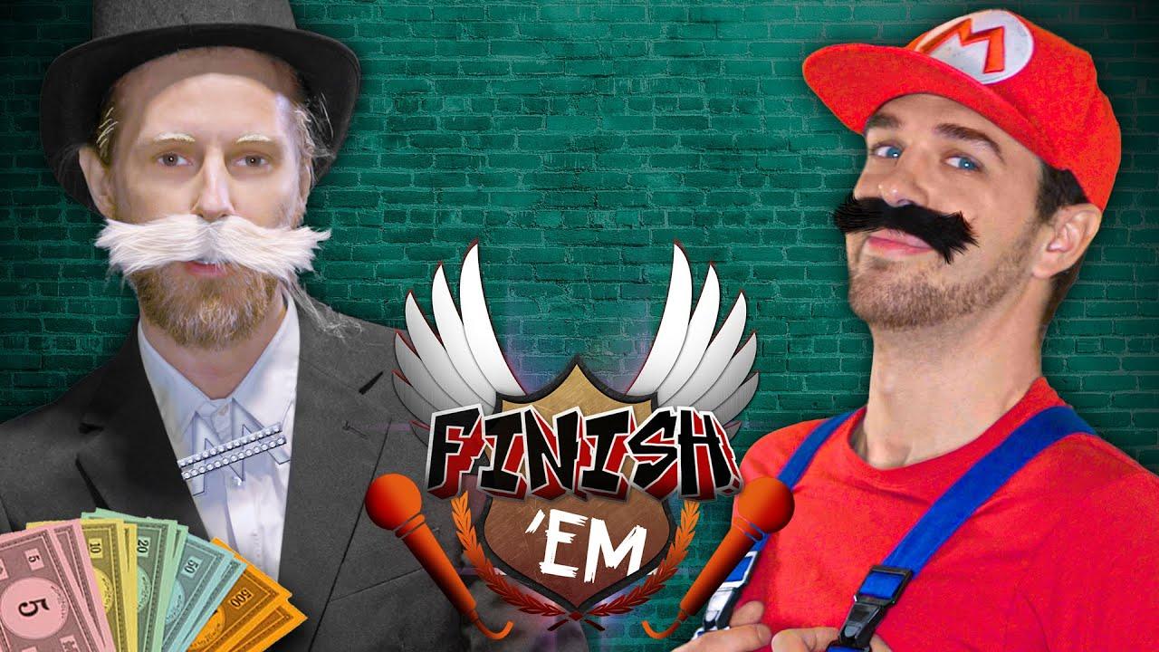 Monopoly vs Mario // FINISH 'EM! (ft. Stephan Bouwman)