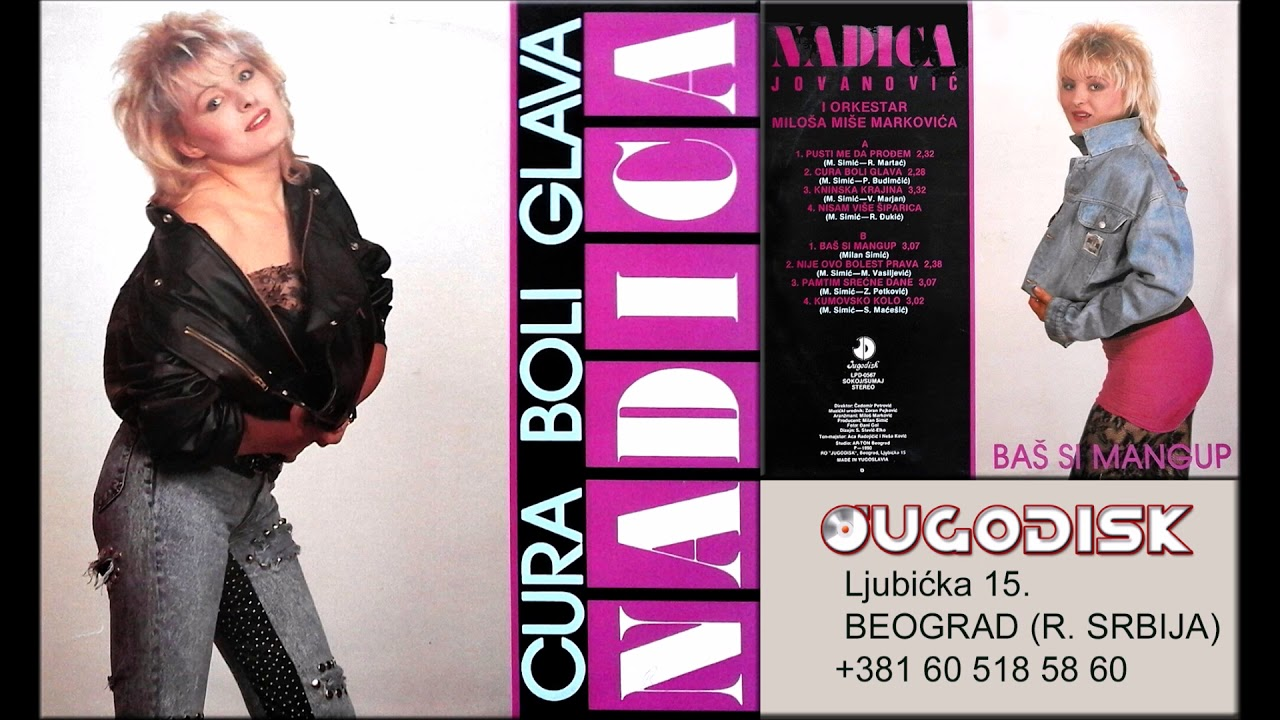 Nadica Jovanovic - Cura boli glava - (Audio 1990)