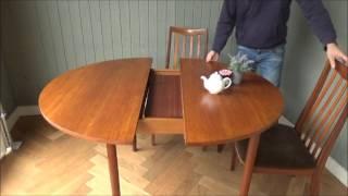 G-pran,G-プランの北欧家具ビンテージの丸い伸張式ダイニングテーブルx-729のご紹介です。