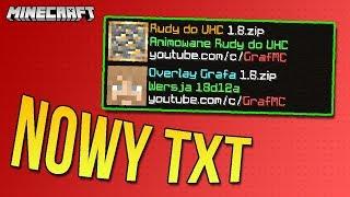 Mój TXT Overlay!  Niska Tarcza, Polska Czcionka, Rudy pod UHC. 1.8 & 1.9+