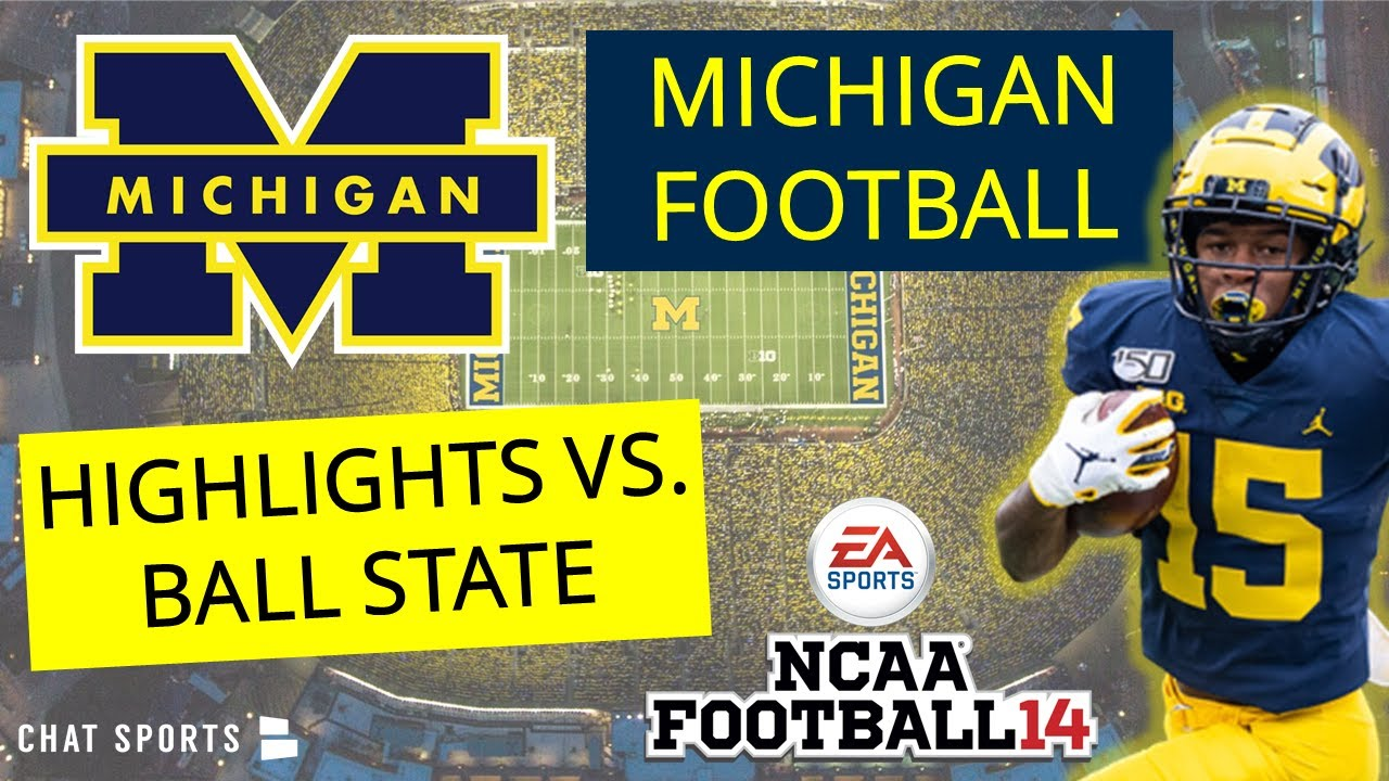 Michigan Football Highlights vs Ball St On NCAA14 2020 Season | Joe Milton To Giles Jackson For Win