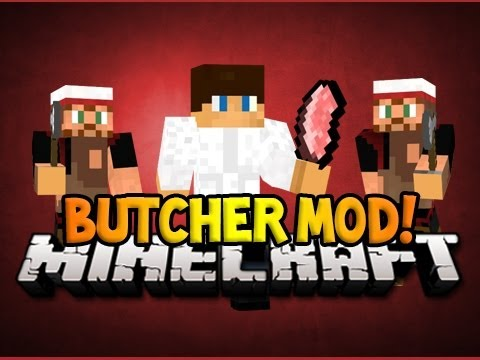 Minecraft: BECOME A BUTCHER!! [1.6.4] (Meat Hooks,Skin Animals, Cook them on a Spit) - Mod Review