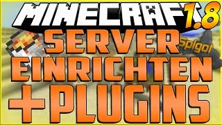 Eigenen Minecraft Server EINRICHTEN und PLUGINS INSTALLIEREN - TUTORIAL - DEUTSCH