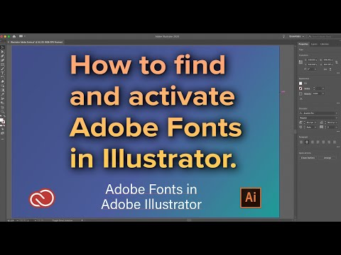 Find And Activate Adobe Fonts In Illustrator
