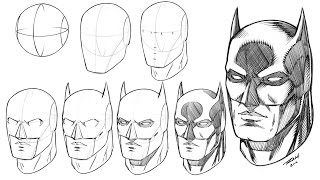 How to Draw Batmans Mask Step by Step Video