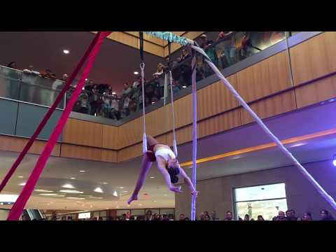 Nice Circus Show at square of shopping mall Christmas 2016