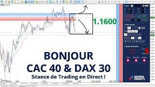#EURUSD - Bonjour CAC40 et DAX30 - Séance de Trading en Direct  avec Admiral Markets le 12/10