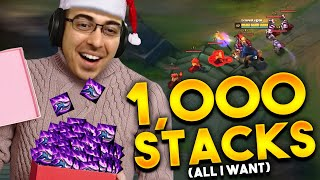 ALL I WANT FOR CHRISTMAS IS 1,000 STACKS