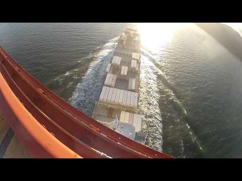 ANGOL Container Ship Under Golden Gate Bridge Bridge