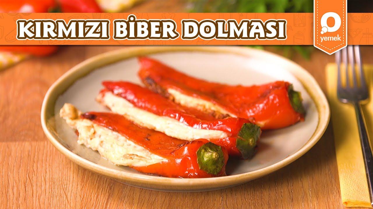 Peynirli Kırmızı Biber Dolması - Pratik Yemek Tarifleri