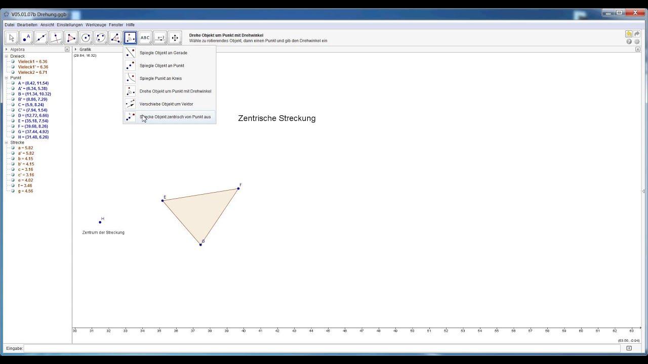 GeoGebra Videotutorial: Drehung (V05.01.07b)