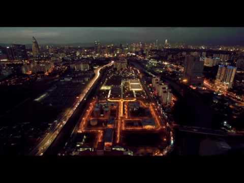 Kuala Lumpur, Malaysia Evening Drone Timelapse