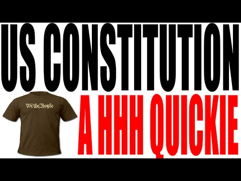 The US Constitution Explained in One Minute