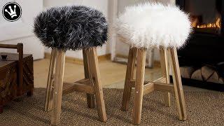 DIY - Fell-Hocker selber machen | Sitzbezug aus Fell nähen | TIPPS & TRICKS zum Nähen mit Fellstoff