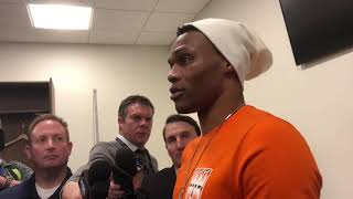 Thunder vs Jazz - Westbrook on altercation