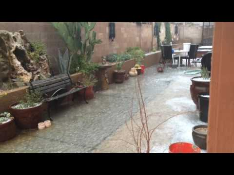 Las Vegas Monsoon In The Middle Of Summer! Wind! Rain! Hail! Aftermath! CRAZY!!! 6/30/2016