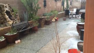 las vegas monsoon in the middle of summer wind rain hail aftermath crazy 6 30 2016