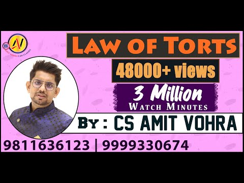 Law of Torts(CS Exec - ILGL)
