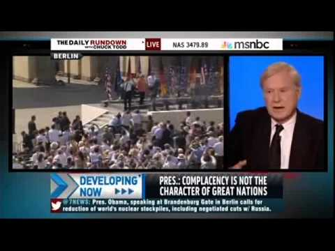 Chris Matthews: Berlin Sun Ruined Obama's Use of Teleprompters
