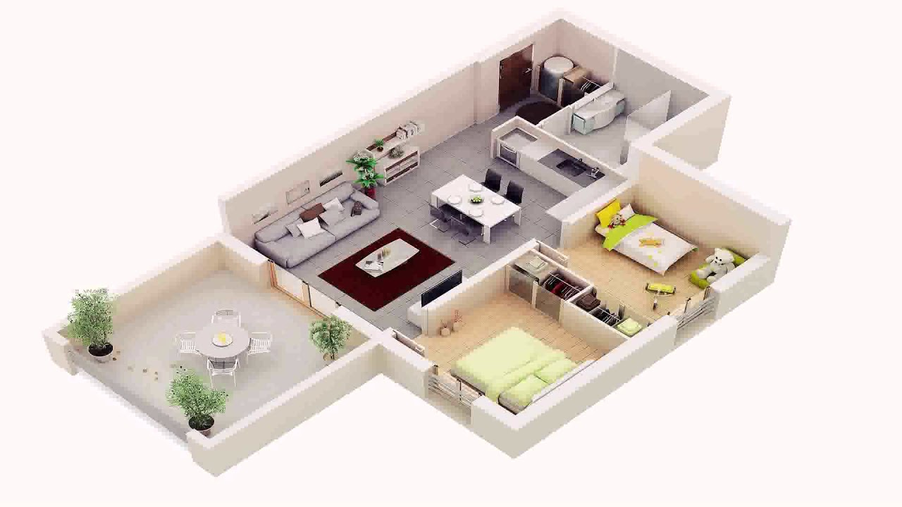 2 Storey House Floor Plan Design 3d