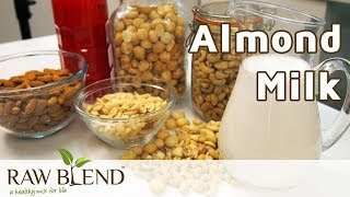 How To Make Dairy Free Milks (almond Milk Recipe) In A Vitamix Blender By Raw Blend